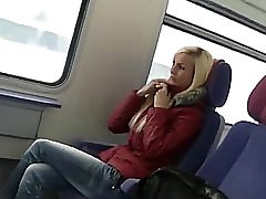 adorable german woman sex on public transport