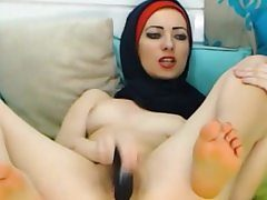 Dear Arabic Teenager Toying
