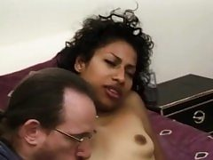 Inexperienced black babe facialized during groupsex
