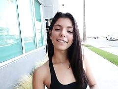 Latina teen spunked in point of view