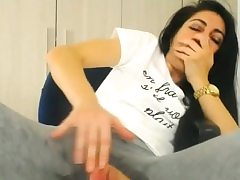 Wet pussy in trousers with a crevasse heads on a orgasmic rampage