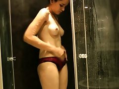 Natural Tits Indian Girl Jasmine Taking Shower