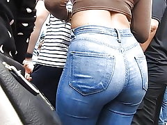 Jeans arse at entertaining spectacle