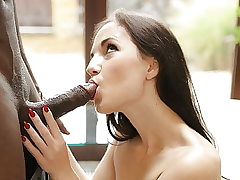 BLACK4K. Adorable Kristy Black gets a yam-sized fuck-stick in her...