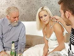 DADDY4K. Naughty dad dragged son's gal into unexpected...