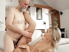 Mature fellow humps fantastic wife in elderly and young movie